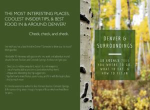 Travel Like a Local…To Denver, Boulder, Colorado Springs, & Their Surroundings