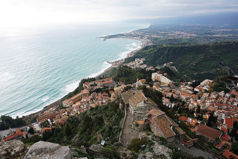 Walking the World: Taormina Center to the Castle on the Hill
