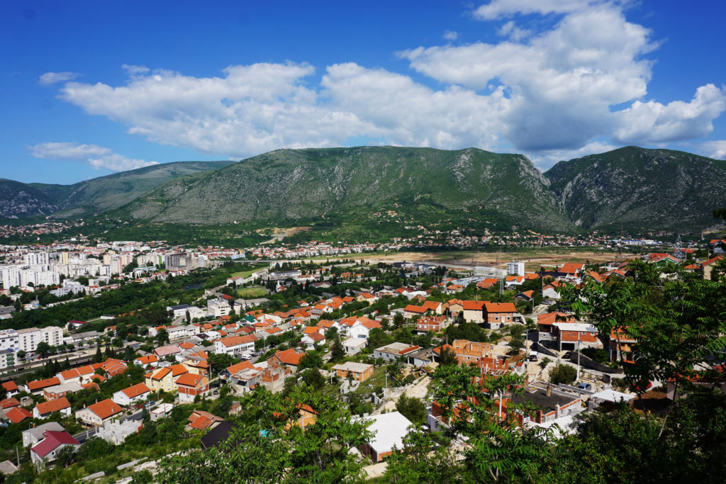 View over Mostar, Bosnia