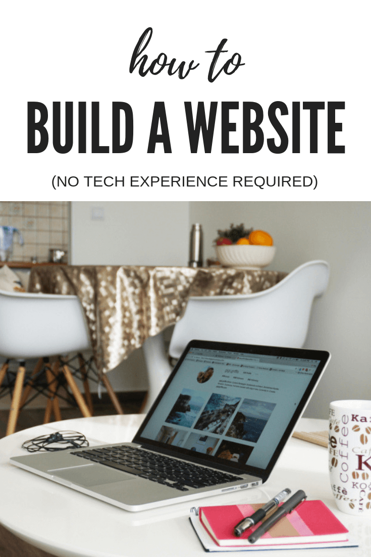 how to build a website without tech experience