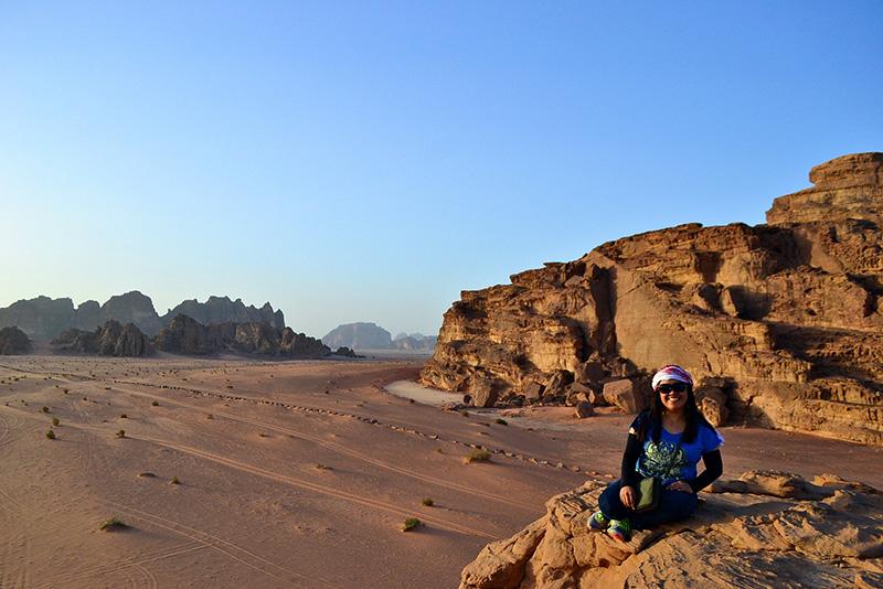 Aleah in Wadi Rum, Jordan